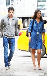 Katie Holmes - on the set of 'Mania Days' in NYC 7/23/13