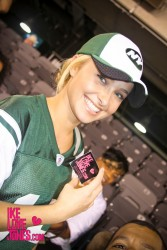 Hayden Panettiere at the Jets vs. Eagles Game in New Jersey on September 1, 2011
