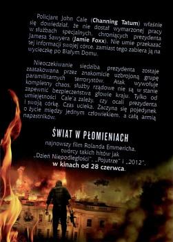 Tył ulotki filmu 'Świat W Płomieniach'