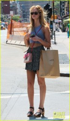 Erin Heatherton - Shopping in NYC 8/6/13