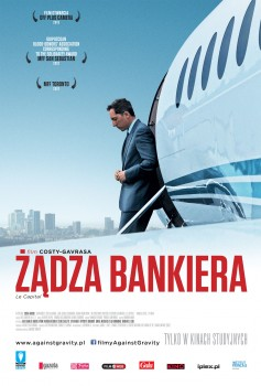 Przód ulotki filmu 'Żądza Bankiera'
