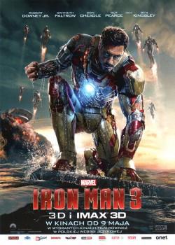 Przód ulotki filmu 'Iron Man 3'