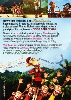 Tył ulotki filmu 'Mambo, Lula i Piraci'