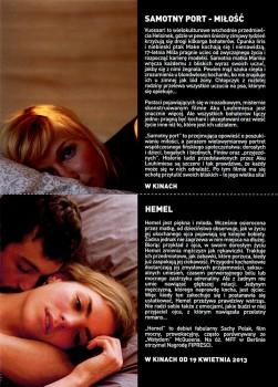 Tył ulotki filmu 'Samotny Port – Miłość'