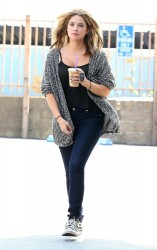 Ashley Benson - Getting gas & coffee in LA 8/13/13