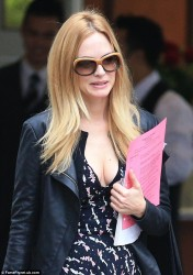 Heather Graham - leaving a hotel in Vancouver 8/14/13