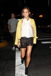 Jamie Chung - leaving Bootsy Bellows in West Hollywood 8/16/13