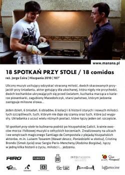 Tył ulotki filmu '18 Spotkań Przy Stole'