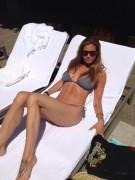 Charisma Carpenter - Bikini by the Pool - Twitter Pics - 08-22-2013