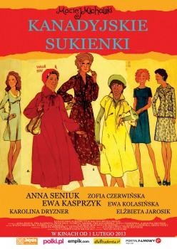Polski plakat filmu 'Kanadyjskie Sukienki'