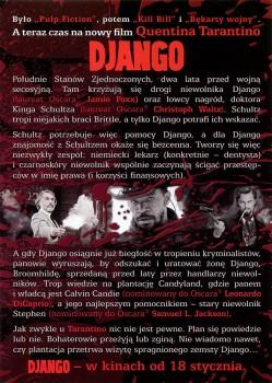 Tył ulotki filmu 'Django'