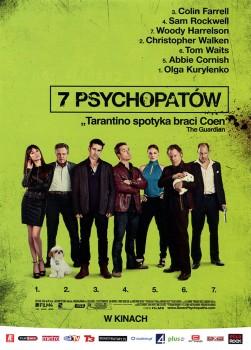 Przód ulotki filmu '7 Psychopatów'