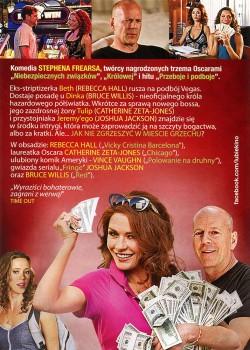 Tył ulotki filmu 'Żądze i Pieniądze'