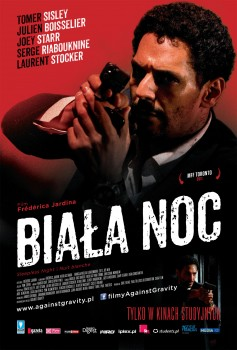 Przód ulotki filmu 'Biała Noc'