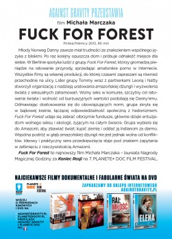 Tył ulotki filmu 'Fuck For Forest'