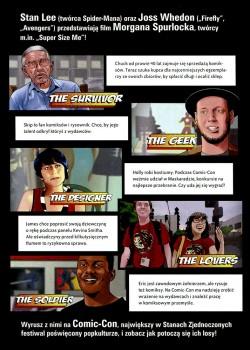 Tył ulotki filmu 'Comic-Con Epizod V: Fani Kontratakują'