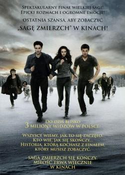 Tył ulotki filmu 'Saga Zmierzch: Przed Świtem. Część 2'
