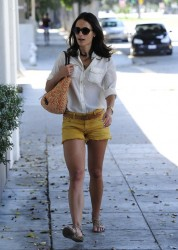 Jordana Brewster - at a hair salon in West Hollywood 8/29/13