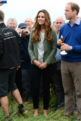Catherine, Duchess of Cambridge - The Ring O'Fire Anglesey Coastal Ultra Marathon in Holyhead, Wales 8/30/13