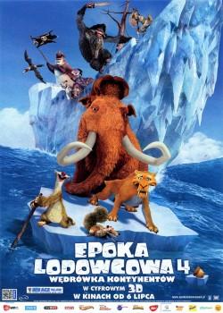 Przód ulotki filmu 'Epoka Lodowcowa 4'