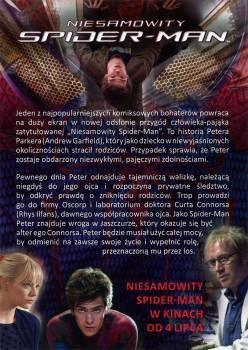 Tył ulotki filmu 'Niesamowity Spider-Man'