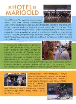 Tył ulotki filmu 'Hotel Marigold'