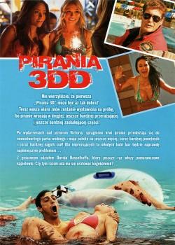 Tył ulotki filmu 'Pirania 3DD'
