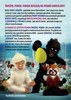 Tył ulotki filmu 'Goryl Śnieżek W Barcelonie'
