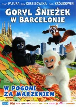 Przód ulotki filmu 'Goryl Śnieżek W Barcelonie'