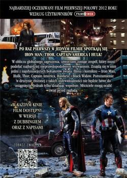 Tył ulotki filmu 'Avengers'