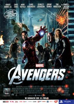 Przód ulotki filmu 'Avengers'
