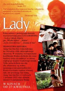 Tył ulotki filmu 'Lady'