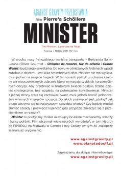 Tył ulotki filmu 'Minister'