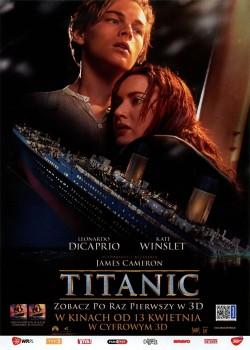 Przód ulotki filmu 'Titanic 3D'