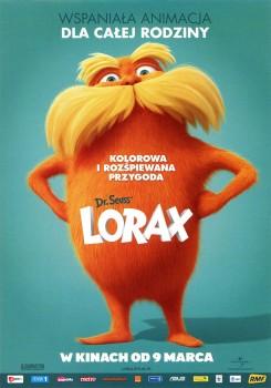 Przód ulotki filmu 'Lorax'