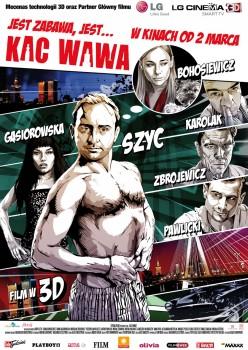 Polski plakat filmu 'Kac Wawa'
