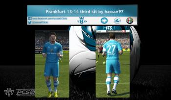 download pes 2013 Eintracht Frankfurt 13-14 Third kit by hassan97