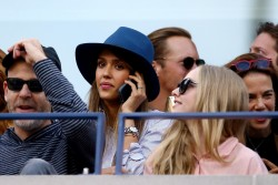 Jessica Alba & Amanda Seyfried - at the 2013 US Open in NYC 9/9/13