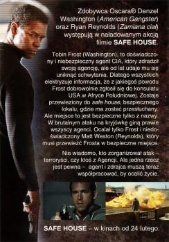 Tył ulotki filmu 'Safe House'