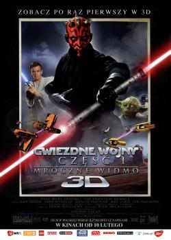 Przód ulotki filmu 'Gwiezdne Wojny: Część I - Mroczne Widmo 3D'