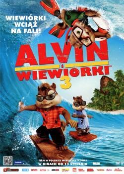 Przód ulotki filmu 'Alvin i Wiewiórki 3'