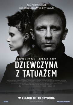 Polski plakat filmu 'Dziewczyna Z Tatuażem'