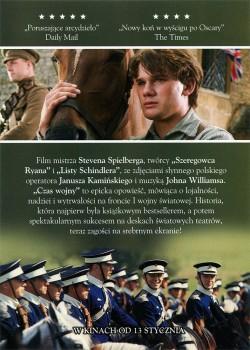 Tył ulotki filmu 'Czas Wojny'