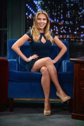 Scarlett Johansson - visits Late Night with Jimmy Fallon in NYC 9/13/13