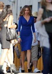 Sofia Vergara - on the set of 'Modern Family' in LA 9/16/13