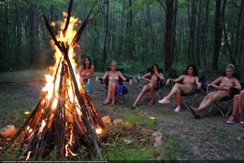 naked girls at campfires