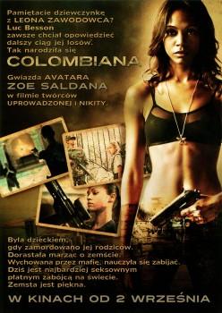 Tył ulotki filmu 'Colombiana'
