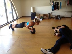 Shawn Johnson at a Nike Photoshoot in L.A. - June 15, 2012