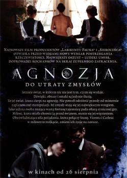 Tył ulotki filmu 'Agnozja'