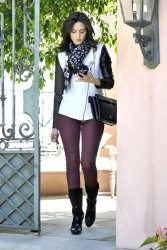 Emmy Rossum - leaves her home in LA 9/28/13
